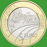 Финляндия 5 евро 2015 г. Фигурное катание ., фото 2