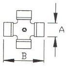 Хрестовина серія B, потужність 2400 розмір 35х94