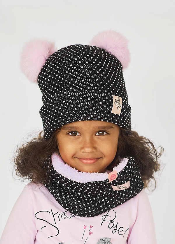Детская зимняя шапка  (набор) КОРИ для девочек   оптом размер 48-50-52