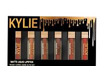 Набор жидких помад Kylie (Кайли) Matte liquid Lipstick Rouge a Levres, упаковка черная с золотистым
