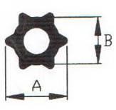 Профіль зірка серія TA потужність 2400/2500/2600 розмір 51х37