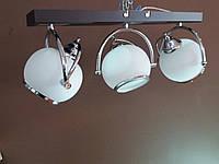 Люстра потолочная на 3 три поворотных плафона хром 11660