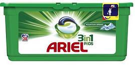 Средство д/стирки Ariel 3в1 White капсулы 28шт.
