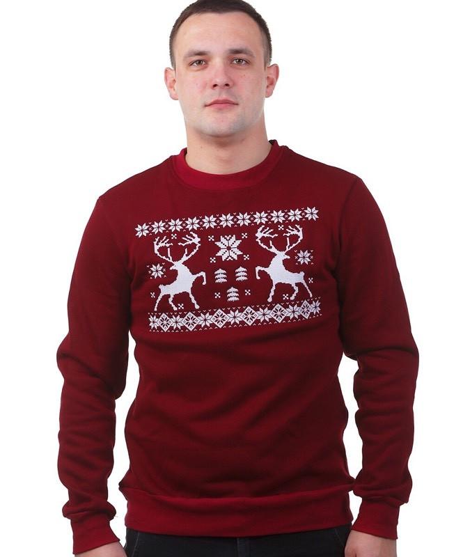 efba228e98437 Мужской рождественский свитер с оленями - Интернет-магазин