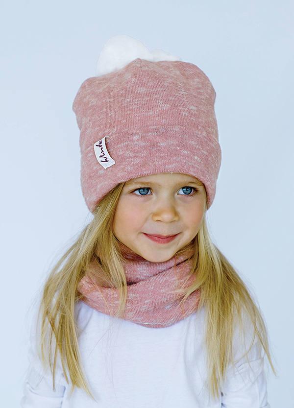 Детская зимняя шапка  (набор) ЛАРА для девочек   оптом размер 48-50-52