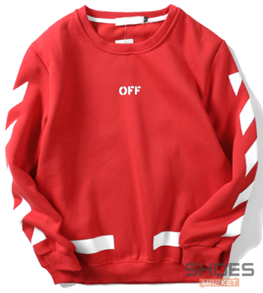 Свитшот Off-white Red (ориг.бирка), фото 2