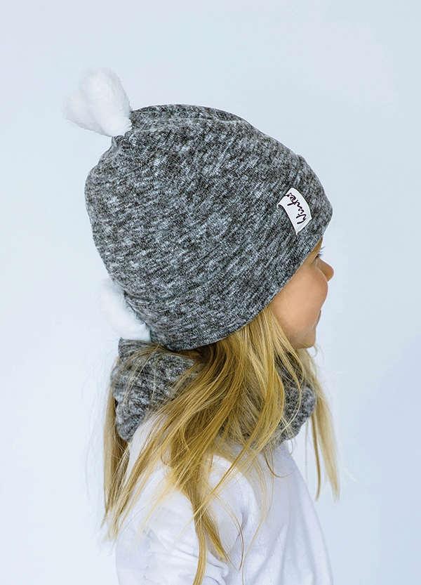 Детская зимняя шапка  (набор) ЛАРА для девочек размеры 48