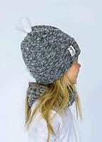 Детская зимняя шапка  (набор) ЛАРА для девочек размеры 48, фото 1