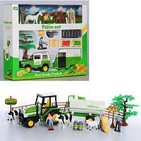 Игровой набор Ферма JC839-40 (24шт) фигурки, животные, дерево, трактор