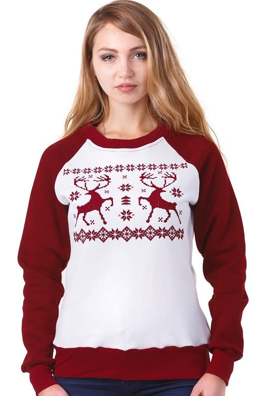 Купить свитер женский с оленями
