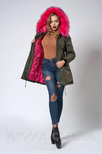 Молодёжная женская куртка-парка Новинка 2018  продажа, цена в ... 051c935e3b3