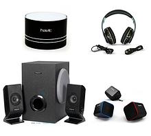 Мобільна акустика, навушники, гарнітури, колонки