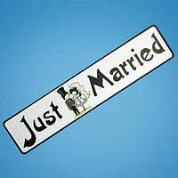 """Свадебные наклейки на автономера """"Молоді"""""""