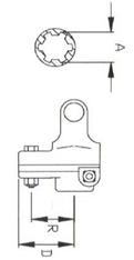 """Муфта зі зрізним болтом серії L04  під хрестовину 27x74,6; розмір 1.3/8""""-6"""