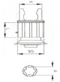 Муфта радіально штіфтова серія B05 під хрестовину 30,2x80