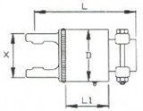 Обгінна Муфта серія L05/T05 під хрестовину 32х76