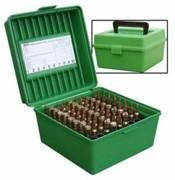 Коробка пластмассовая MTM R-100 на 100 патронов кал. .22-250 Rem .243 Win 6 mm BR Norma 6,5x55 6,5x284 Norma 7,62x39 .30-30 Win .308 Win .30-06 8x57
