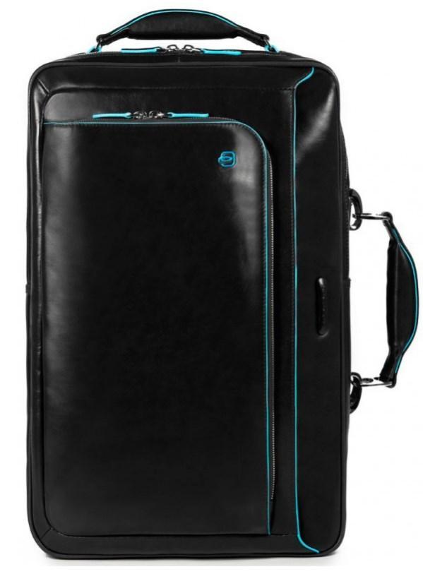 73532600237c Сумка-рюкзак Piquadro Blue Square из кожи для ноутбука 15,6
