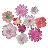 """Набор цветов """"розовое ассорти"""" 10 шт."""
