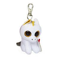 Брелок TY Beanie Boos Белый единорог Pegasus, 12 см