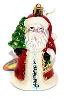 """Новогодняя игрушка-подвеска """"Дед Мороз с елочкой"""" выс.12см"""