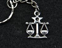 """Брелок для ключей знаки зодиака """"Весы"""""""