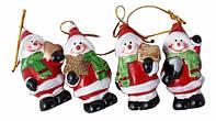 """Новогодняя игрушка-подвеска-статуэтка гипсовая """"Снеговик"""" выс.7см"""