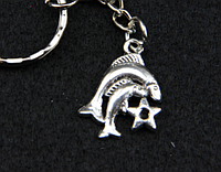 """Брелок для ключей знаки зодиака """"Рыбы"""""""