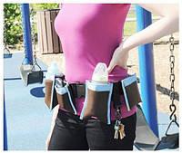 Многофункциональный пояс для мам с карманами Waist Diaper Bag