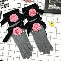 Перчакиженские Цветок коттон с шерстью на флисе