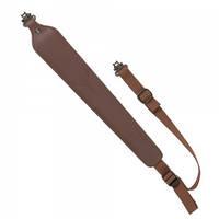 Погонный ремень для переноски оружия Allen Cobra Padded Tanned Leather Rifle Sling with Swivels (с антабками). Материал - кожа. Цвет - коричневый.