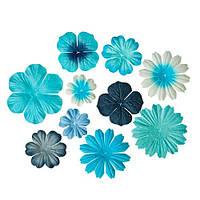 """Набор цветов """"голубое ассорти"""" 10 шт."""