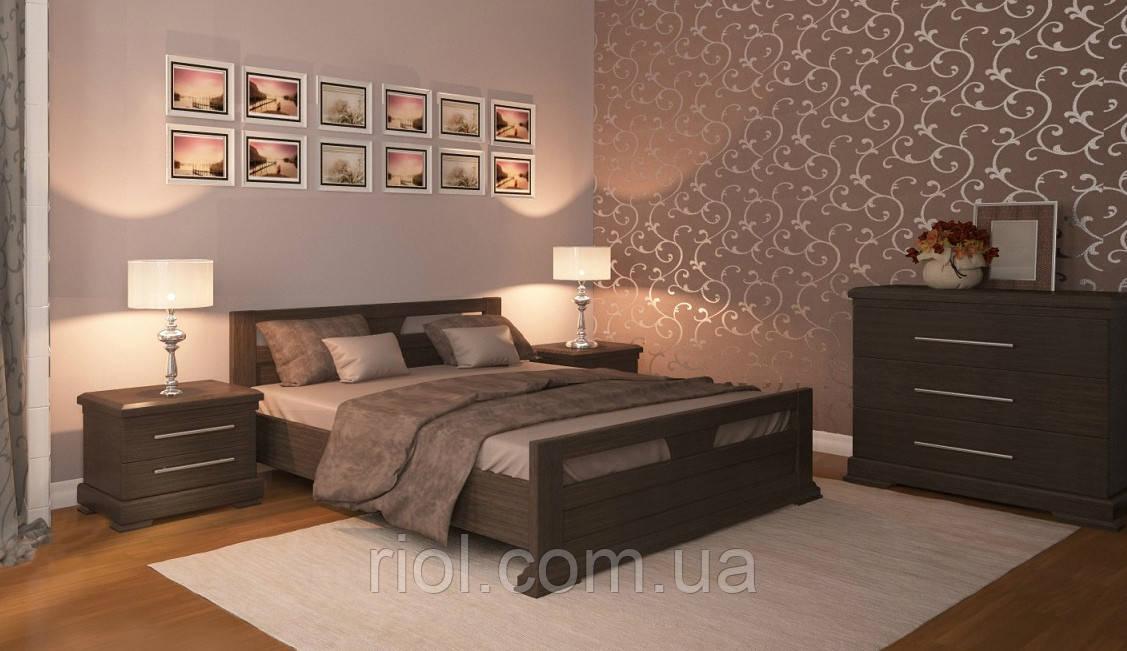 Кровать из массива дуба Арт-6 двуспальная