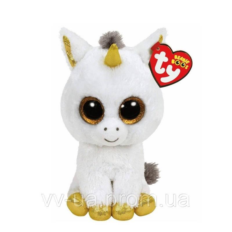 Мягкая игрушка TY Beanie Boos Белый единорог Pegasus, 15 см (36179)