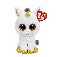 Мягкая игрушка TY Beanie Boos Белый единорог Pegasus, 25 см (36825)