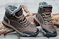 Ботинки полуботинки зимние кожа Merrell мужские коричневые Харьков 2016 (Код: Б191)