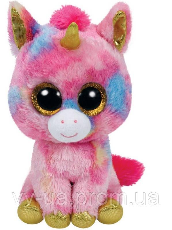 Мягкая игрушка TY Beanie Boos Единорог Fantasia, 15 см (36158)