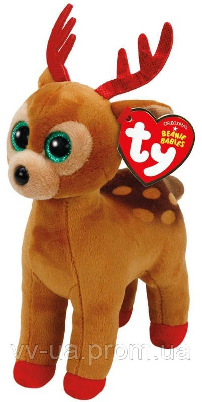 Игрушка мягкая TY Beanie Boos Олененок Tinsel, 15 см