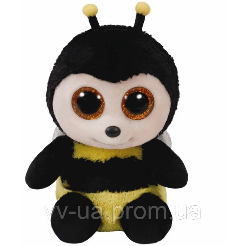 Игрушка мягкая TY Beanie Boos Пчелка BUZBY, 15 см