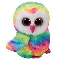 Мягкая игрушка TY Beanie Boos Сова Owen, 15 см (37221)