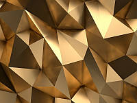 3D фотообои: Золотой объем