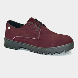 Кожаные ботинки Shy марсала замшевые Multi Shoes marsala 36-39