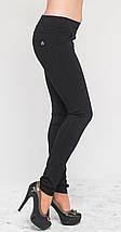 Леггинсы классические с карманами черные 40 зима, фото 2