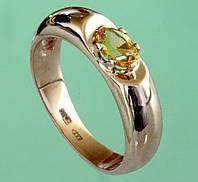 Золотий перстень  з цитрином