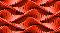 3D фотообои: Красные пики