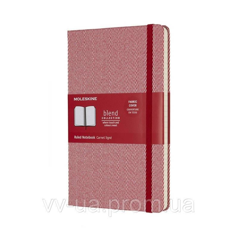 Книга записная Moleskine Blend 17 средняя, тверд.обл., красный, линия, Канва