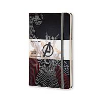 Книга записная Moleskine Avengers (Тор) средняя, тверд.обл., черный, линия (LEAVQP060TH)