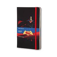 Книга записная Moleskine Batman vs Superman средняя, тверд.обл., черный, линия, фото 1