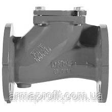 Клапан обратный канализационный чугунный фланцевый арт. BCV-16F (C102) Ду100 Ру16