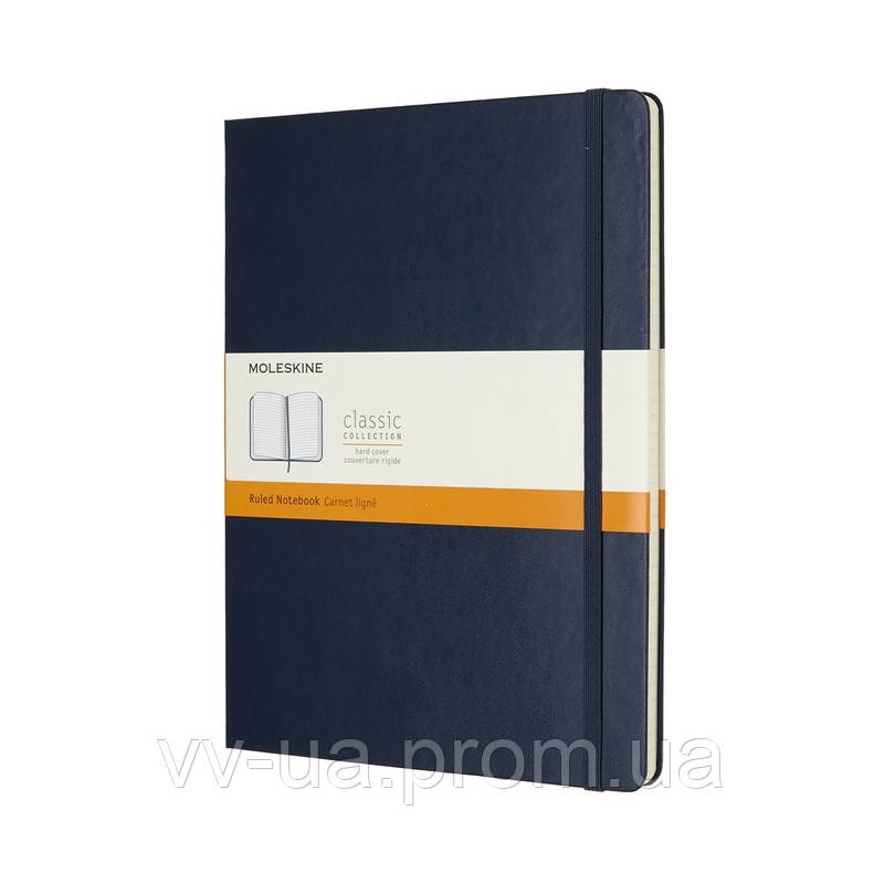 Книга записная Moleskine Classic большая, тверд.обл., сапфир, линия (QP090B20)